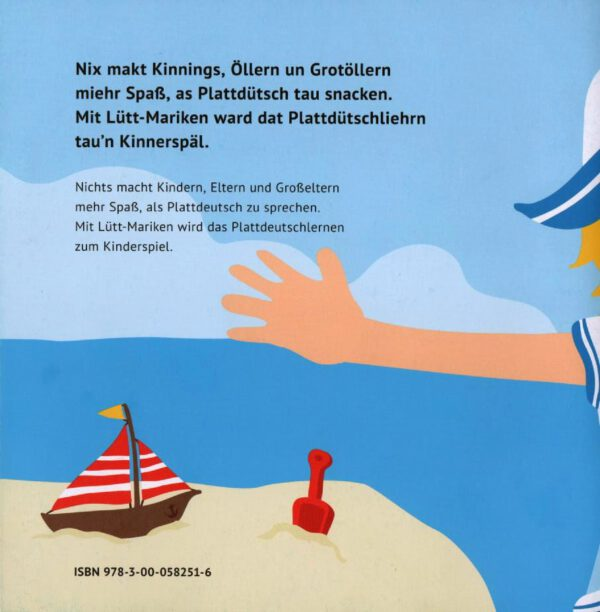 Lütt-Mariken plattdeutsches Bilderbuch/Kinderbuch Strand