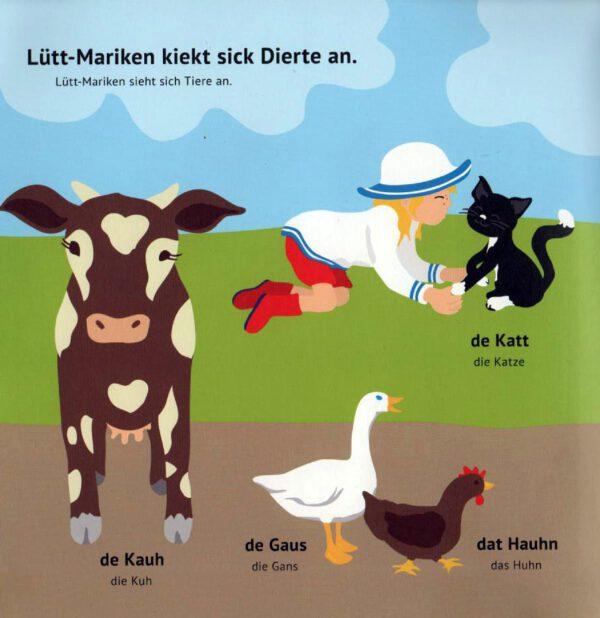 Lütt-Mariken plattdeutsches Bilderbuch/Kinderbuch Tiere